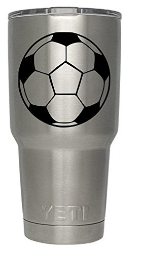 Soccer Ball Decal for Yeti Tumbler Decal Ozark Trail Tumber decal Black or White Decals 3.7
