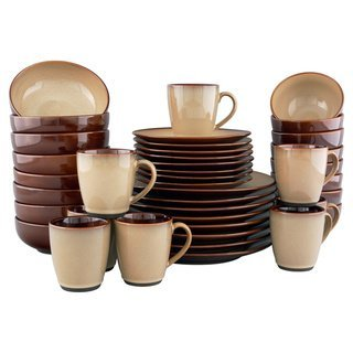 brown and green kitchen sango brown stoneware dinnerware set 40 4933