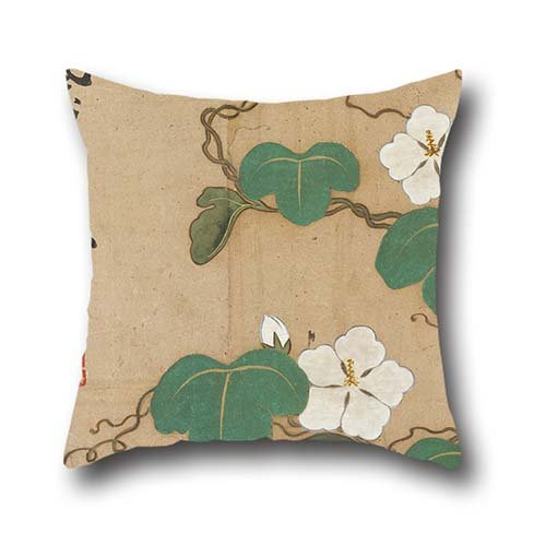 The Oil Painting Ogata Kenzan - Evening Glories Throw Pillow Covers Of ,16 X 16 Inches / 40 By 40 Cm Decoration,gift For Home Office,seat,kids Girls,him,chair,kitchen (double Sides)