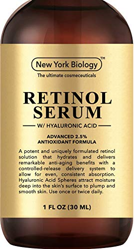 Super Retinol Serum 2.5% w/Hyaluronic Acid – Professional Grade – Anti Aging Face Serum For Wrinkles, Fine Lines And Hyperpigmentation – 6X Stronger than Retinol Cream Moisturizers - 1 FL OZ (Treatment Wrinkle Deep)