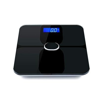 lujiaoshout Báscula de Cuerpo de Bluetooth Báscula de baño Digital Inteligente con Pantalla de retroiluminación para