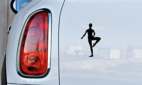 Ballerino Dancer Silhouette Version 1 Car Vinyl Sticker Decal Bumper Sticker for Auto Cars Trucks Windshield Custom Walls Windows Ipad Macbook Laptop and More -