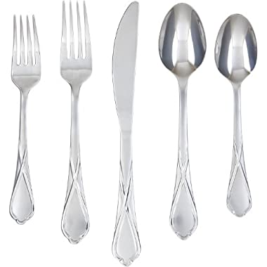 Cambridge Silversmiths Heather Sand 20-Piece Flatware Set