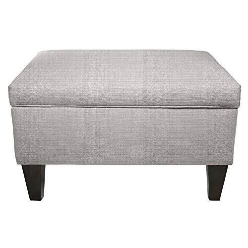 MJL Furniture Brooklyn Grey Polyester, Wood Upholstered Storage Ottoman ()