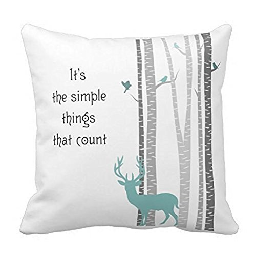 Decors Square Decorative Throw Pillow Case Cushion Cover Bir