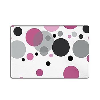 CHARMHOME Popular Pink Polka Dots Long Doormat 23.6(L) x 15.7(W)