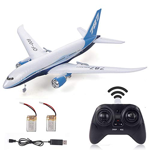 RC Glider Airplanes 550mm Wingspan 3CH 2.4Ghz DIY Remote Control Plane EPP Built-in Gyro QF008-787 Beginner RC Aircraft with 2pack LiPo Battery