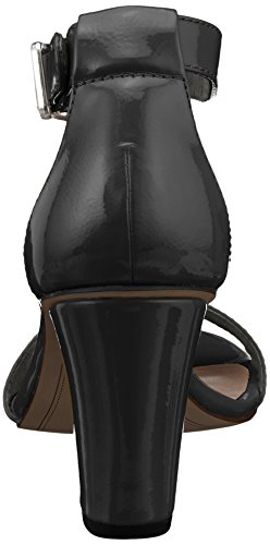 Tamaris Women's 28018 Ankle Strap Sandals, Black Black (Black Patent 018)