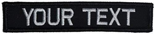 Customizable Text 1x5 Patch w/Hook Fastener Morale Patch - B