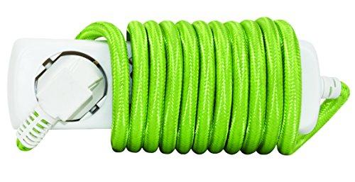 REV Ritter Steckdosenleiste, 3fach mit Kinderschutz, mit grüner Zuleitung, 2,50 m, weiss, 1 Stück - kostenlose Lieferung