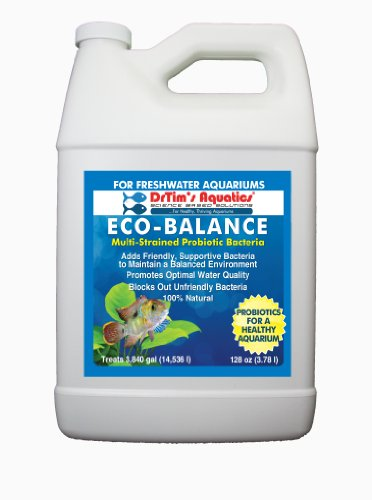 DrTim's Aquatics Eco-Balance Multi-Strained Probiotic Bacteria for Freshwater Aquarium, 1-Gallon