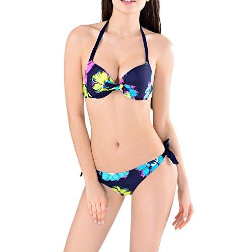 La Sra Verano Bikini Atractivo Blue