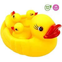 Tinny Time Chu Chu Duck Family Baby Bathing Toddler Toys Set