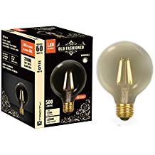 Xtricity Dimmable LED Filament G40 Vintage Light Bulb Edison Style, 5W (60W Equivalent), E26 Medium Base Screw, 2200K Soft White, Ideal for String Lights and Vintage Lighting Looks, (Pack of 1)