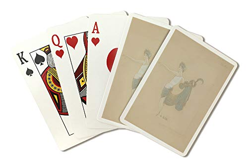 Paris Qui Brille costume design Vintage Poster (artist: Zig) France c. 1931 (Playing Card Deck - 52 Card Poker Size with Jokers) (Design Brillen)