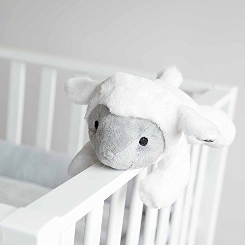 Zazu Kids Soft Heartbeat Toy Voice & Touch Activated Sound Machine Sleep Soother (LIZ the Lamb), Lamb - White