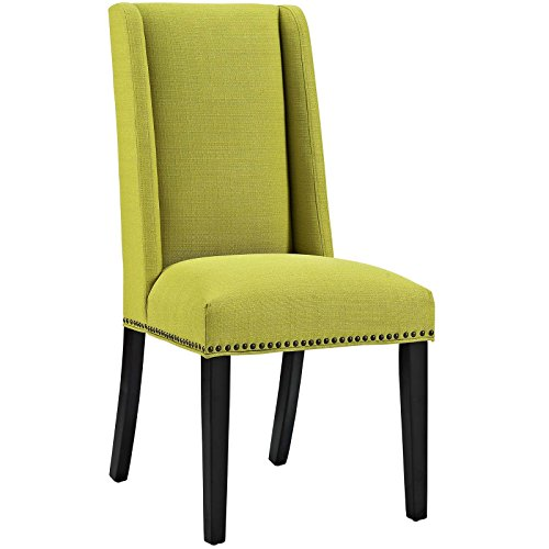 Modway Baron Fabric Dining Chair in Wheatgrass