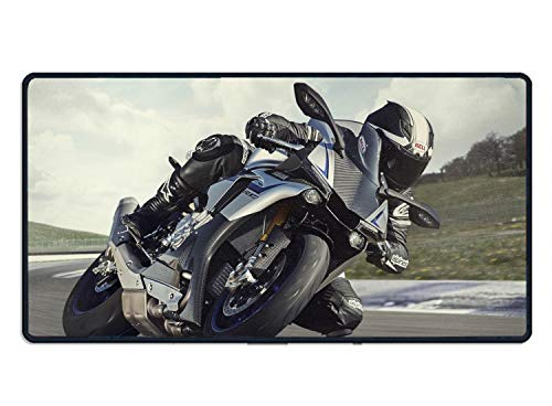 (Motorcycle Racing Sport Bike Mouse Pad MAX Comfort Combines The Best of Materials to Ensure Extreme Precision and Firm Grip to Desktop)