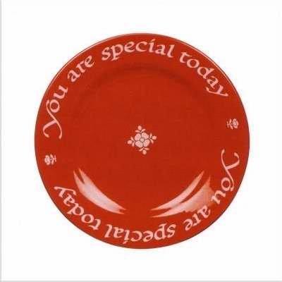 Waechtersbach Plate, You Are Special Today Red Plate by Waechtersbach