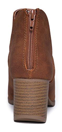 b21d978bda6 J. Adams Tabs Western Boots - Cut Out Peep Toe Stacked Low Heel ...