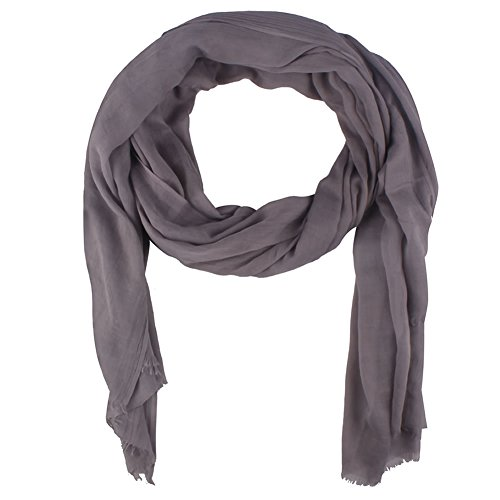 Paladoo Solid Color Scarfs for Women Long Scarf Beach Wrap (Lightweight Linen Skirt)