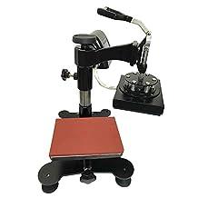 "SigntigerGentle Swing Logo Heat Press Machine Manual Heat Transfer Press Logo Mark Printing Machine 110V (5.9"" * 7.87"")"