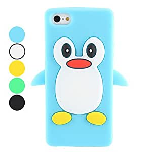 LCJ Cartoon Penguin Design Soft Case for iPhone 5/5S (Assorted Colors) , Green