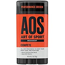 Art of Sport Men's Deodorant Clear Stick, Compete Scent, Aluminum Free, Made with Matcha, 2.7oz