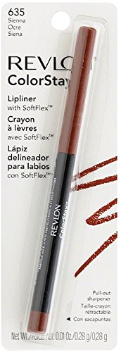 Revlon ColorStay Lipliner with SoftFlex, Sienna [635] 1 ea (Pack of 3)
