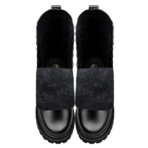 Grandi Up Casual Uomo da Lace Stivaletti Vera Militari Boots di Top in Stivali High Black Tooling Stivali Martin Pelle Dimensioni Scarpe pnx06aWnw