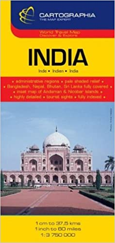 India Country Map 1 3 750 000 Cartographia Map Collection