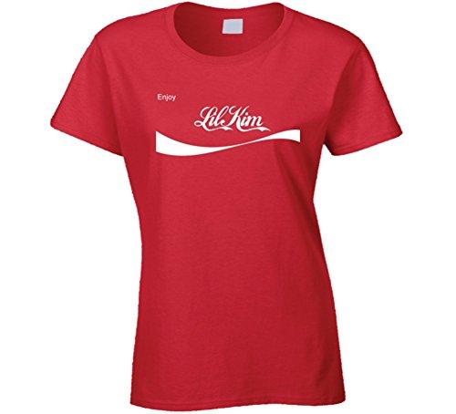 Lil Kim Enjoy Lil Kim Rap Hip Hop Womens T Shirt M Red