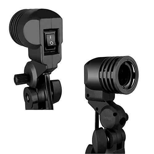 Emart Photography E26/E27 Lamp Holder with Light Stand Mount Umbrella Holder 2 Packs