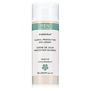 REN Skincare Evercalm Gentle Cleansing Milk and Evercalm Global Protection Day Cream Bundle With Essential Oils, Shea Butter,Vitamin E and Green Tea, 5.1 fl. oz. and 1.7 fl. oz. Each