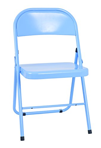 Haku Moebel Lot de 4 chaises Pliantes, Acier, Bleu, 46 x 47 x 78