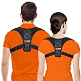 Gearari Posture Corrector for Women Men - Posture Brace - Adjustable Back Straightener - Discreet Back Brace for Upper Back Pain Relief, Comfortable Posture Trainer FDA Approved, Regular, Black