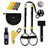 TRX GO Bundle: Includes GO Suspension Trainer  Training Xmount  Training Set of 4 Mini Bands & TRX Training Stainless Steel Water Bottle