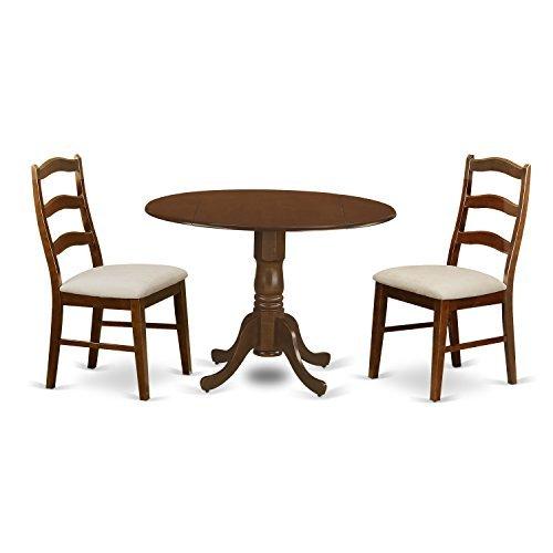 East West Furniture DLHE3-ESP-C 3 Piece Kenley Dining Table