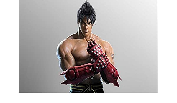 Jin Kazama Tekken Game Fighter Gloves Poster Silk Fabric Cloth