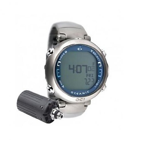 - Oceanic OC1 Complete Wireless Dive Watch w/ Titanium Band - Blue-With Free Online Training Class - Does NOT include Buddy Check Feature