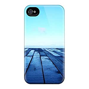 Perfect Fit LSPOSAG7413yInig Blue Wood Case For Iphone - 4/4s
