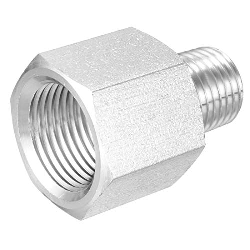 uxcell Pipe Fitting Adapter, Reducing Coupling, 1/4 inches NPT Male x 3/8 inches NPT Female Connector