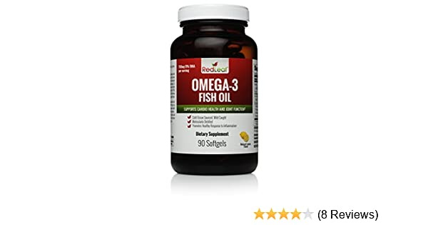 Amazon.com: Red Leaf Omega-3 Premium Fish Oil - Fresh Cold-Ocean Sourced - Wild Caught - Ultra-Purified in Norway - 1,400mg per serving - 90 servings: ...