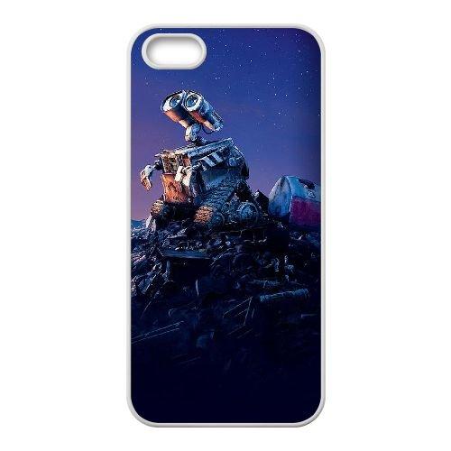 G5N59 Wall E X8N1RD coque iPhone 5 5s cellulaire cas de téléphone couvercle coque blanche IF2OLS3PI