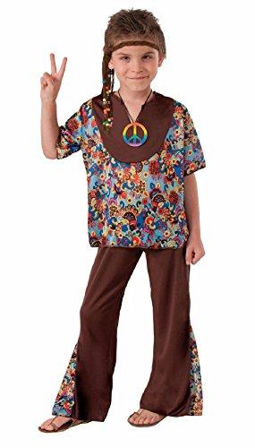 Bell Boy Costume Pattern (60'S Groovy Hippie Boy Costume Bell Bottoms Pants Top Boys Girls Child Sm-Lg)