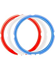 ZLR 3 Pack Silicone Sealing Rings for Instant Pot 3 Quart Color (Red, Clear and Blue) Fits IP-DUO Mini 3qt, IP-LUX Mini 3 qt, IP DUO Plus 3Qt BPA Free