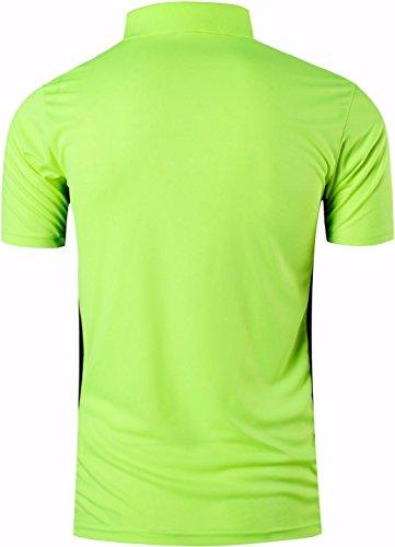 jeansian Uomo Allenarsi Sportivo Poliestere Asciugatura Rapida Camicie Workout Polo Shirt T-Shirts LSL195 3 spesavip