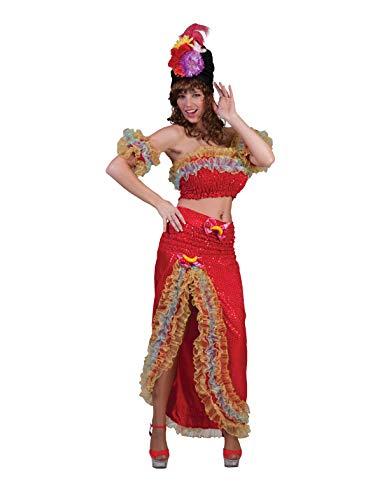 Brazil Lady Top Skirt Arm Covers Fruit Sequins Crinoline Halloween Costume -