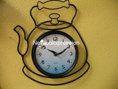 Amazon.com: Tea pot kettle wall clock kitchen Decor teapot coffee ...