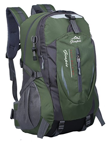 Ginpie Outdoor Waterproof Sports Travel Hiking Backpack For Men and Women. (Green)